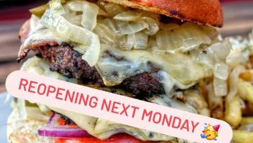 It's official, we are reopening for outside diners on Monday 12th!!